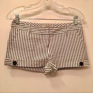 Striped Shorts w/ Cuffs